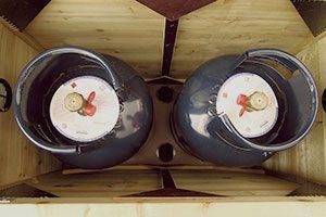 opbergkist voor gasflessen optie1